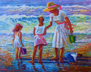 My Painting  Sunday Afternoon At The Beach Is Going National